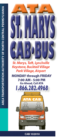 Cover Art St. Marys CAB BUS Trifold