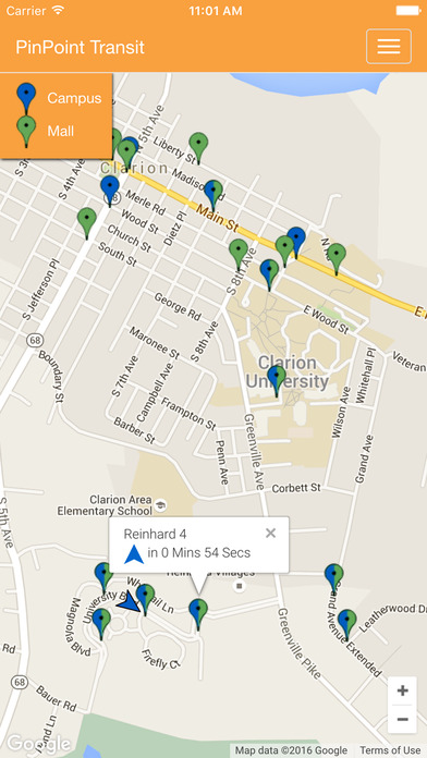 Pinpoint Mobile APP MAP